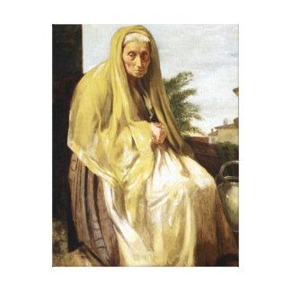 Impressão Em Canvas Edgar Degas a mulher italiana idosa