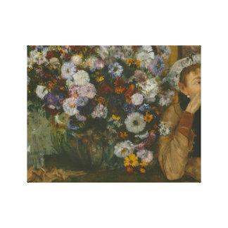 Impressão Em Canvas Edgar Degas - uma mulher assentada ao lado de um