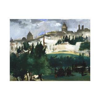 Impressão Em Canvas Édouard Manet o funeral