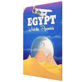 Impressão Em Canvas Egipto - visite o poster das viagens vintage das
