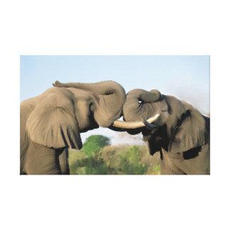 Impressão Em Canvas Elefantes de Bull