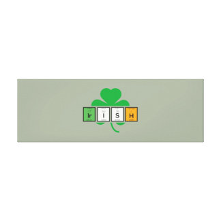 Impressão Em Canvas Elemento químico Zz37b do cloverleaf irlandês