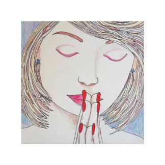 Impressão Em Canvas Em período do problema, Pray