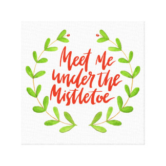 Impressão Em Canvas Encontre-me sob o Natal romântico do visco |