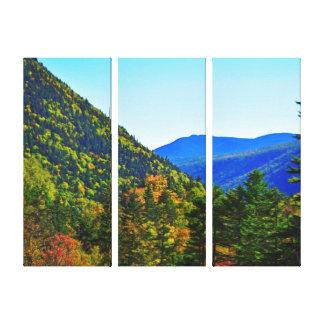 Impressão Em Canvas Entre o Triptych dos cumes