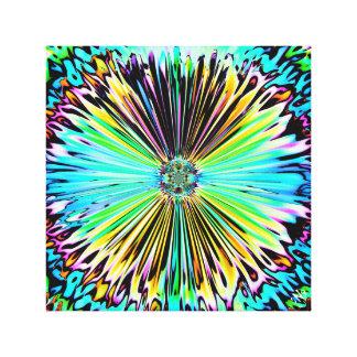 Impressão Em Canvas Esboço psicadélico colorido de uma flor 2