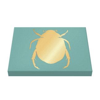 Impressão Em Canvas Escaravelho egípcio do ouro