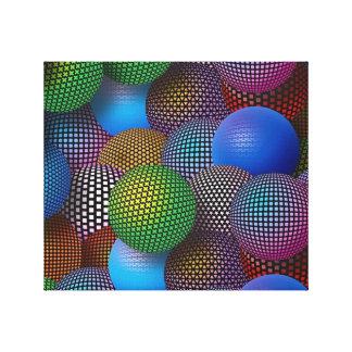 Impressão Em Canvas Esferas