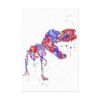 Impressão Em Canvas Esqueleto de T Rex
