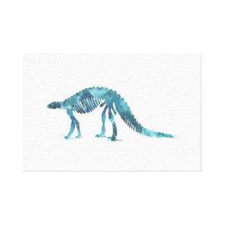 Impressão Em Canvas Esqueleto do dinossauro (Scelidosaurus)