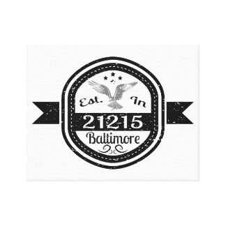 Impressão Em Canvas Estabelecido em 21215 Baltimore