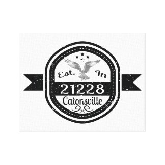 Impressão Em Canvas Estabelecido em 21228 Catonsville