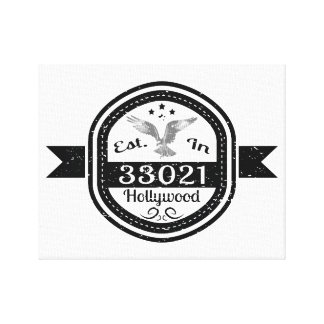 Impressão Em Canvas Estabelecido em 33021 Hollywood