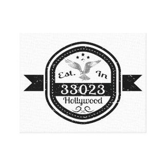 Impressão Em Canvas Estabelecido em 33023 Hollywood