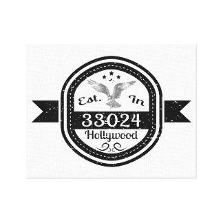 Impressão Em Canvas Estabelecido em 33024 Hollywood
