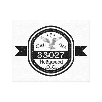 Impressão Em Canvas Estabelecido em 33027 Hollywood