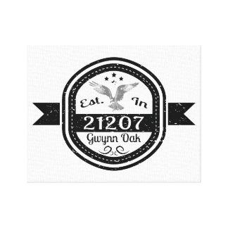 Impressão Em Canvas Estabelecido no carvalho de 21207 Gwynn