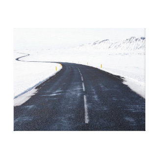 Impressão Em Canvas Estrada da neve   da fotografia   da natureza