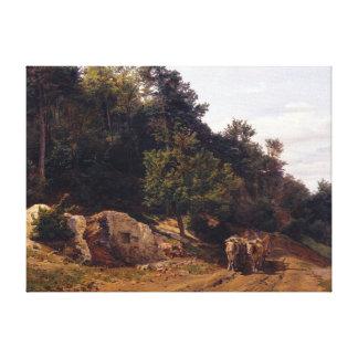 Impressão Em Canvas Estrada de floresta de Ferdinand Georg Waldmüller