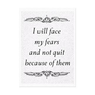 Impressão Em Canvas Eu enfrentarei meus medos - Quote´s positivo