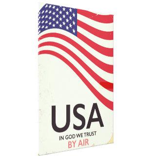 """Impressão Em Canvas EUA """"no deus nós confiamos"""" o poster vintage"""