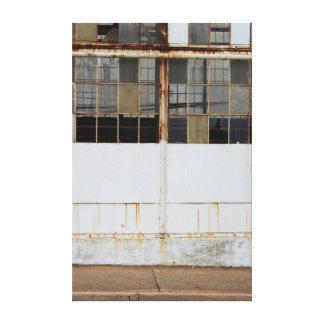 Impressão Em Canvas Exterior abandonado da fábrica