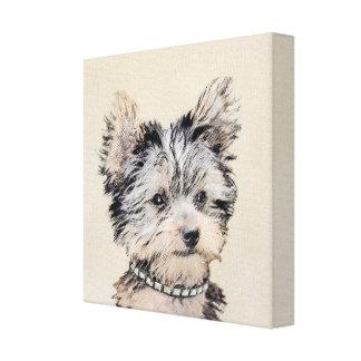 Impressão Em Canvas Filhote de cachorro do yorkshire terrier