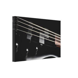 Impressão Em Canvas Fim-Acima preto da guitarra baixa