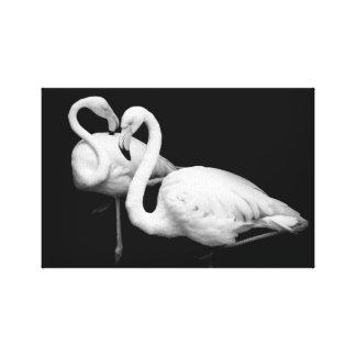 Impressão Em Canvas Flamingo amor