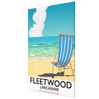 Impressão Em Canvas Fleetwood, poster de viagens do beira-mar de