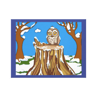 Impressão Em Canvas Floco de neve a coruja