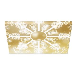 Impressão Em Canvas Floco de neve do ouro