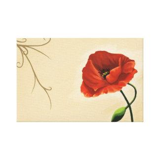 Impressão Em Canvas Flor de papoila