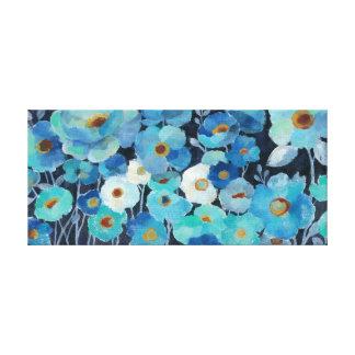 Impressão Em Canvas Flores do índigo