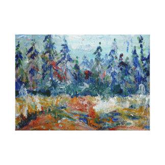 Impressão Em Canvas Floresta do pinho