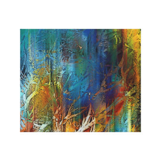 Impressão Em Canvas Floresta místico