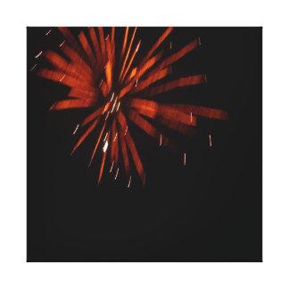 Impressão Em Canvas Fogos-de-artifício avermelhados da flor