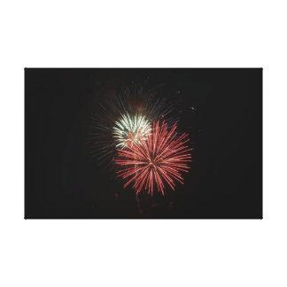 Impressão Em Canvas Fogos-de-artifício vermelhos & brancos
