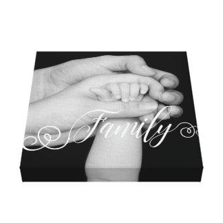 Impressão Em Canvas Folha de prova da foto da tipografia da família