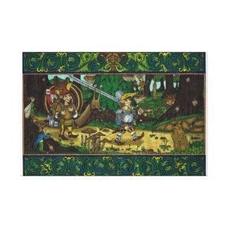 Impressão Em Canvas Fora ao Joust, cavaleiro feericamente