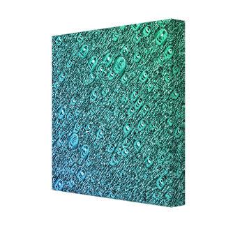 Impressão Em Canvas Formas azuis e verdes abstratas