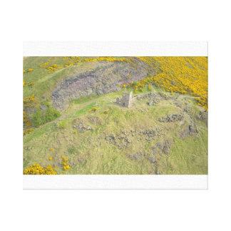 Impressão Em Canvas Forte de Edimburgo em cima das colinas