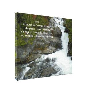 Impressão Em Canvas Foto da cachoeira da floresta da oração da