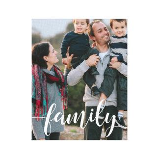 Impressão Em Canvas Foto da folha de prova do roteiro da família