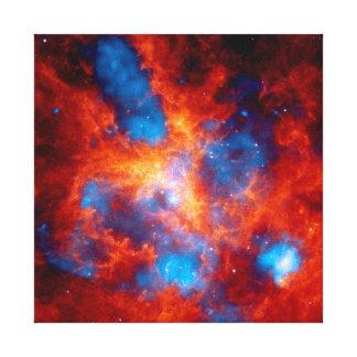 Impressão Em Canvas Foto infravermelha colorida do espaço da nebulosa