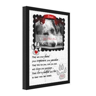 Impressão Em Canvas foto memorável do cão do poema do animal de