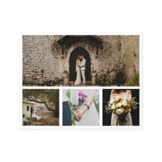Impressão Em Canvas Foto moderna do casal quatro do casamento