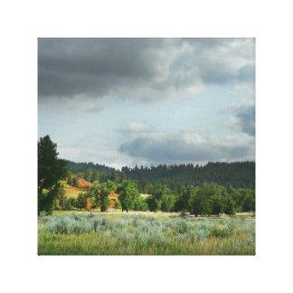 Impressão Em Canvas Fotografia da paisagem de Wyoming oriental