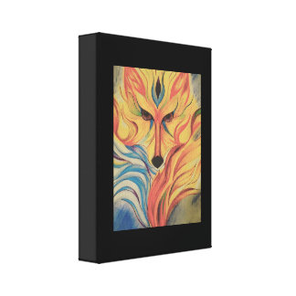 Impressão Em Canvas Fox do fogo