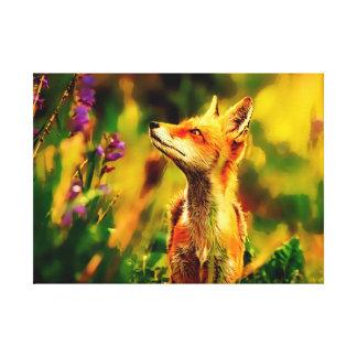 Impressão Em Canvas Fox do primavera